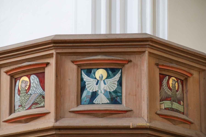 Kanzel in der St. Salvator Kirche in Nördlingen