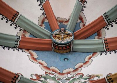 Schlusssteine im Chorraum in der St. Salvator Kirche in Nördlingen