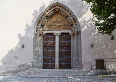 Hauptportal der St. Salvator Kirche in Nördlingen