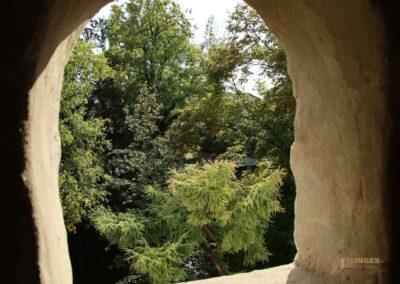 Blicke vom Stadtmauerrundgang in Nördlingen