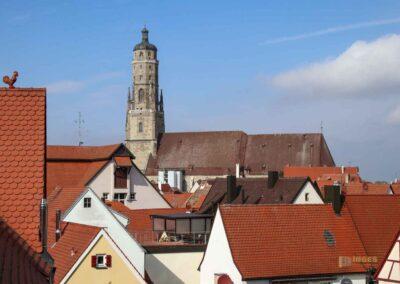 Blick auf St. Georg und den Daniel in Nördlingen