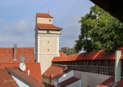 Kasarmen und Reimlinger Tor an der Stadtmauer in Nördlingen
