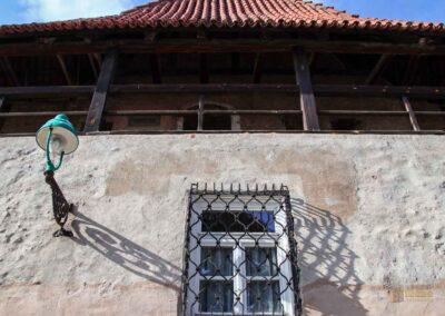 Spitzturm an der Stadtmauer in Nördlingen