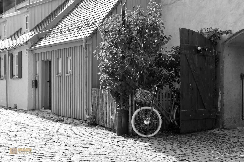 Kasarmen an der Stadtmauer in Nördlingen