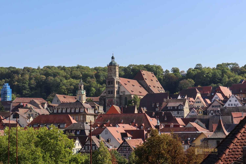 Blick auf Altstadt Schwäbisch Hall