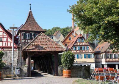 Roter Steg, Gerberhaus und Gerberturm in Schwäbisch Hall