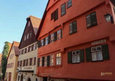 Kirchhöflein beim Münster St. Michael in Dinkelsbühl