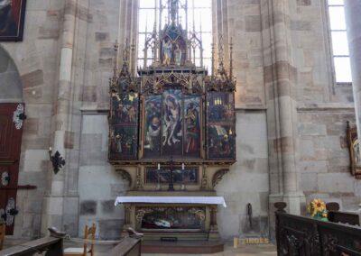 Sebastiansaltar Münster St. Michael in Dinkelsbühl