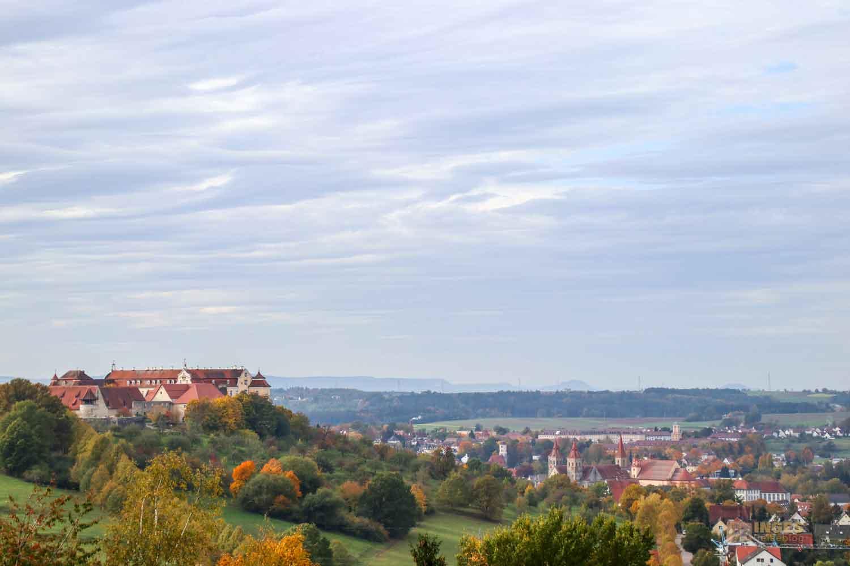 Schloss ob Ellwangen und Stadt Ellwangen