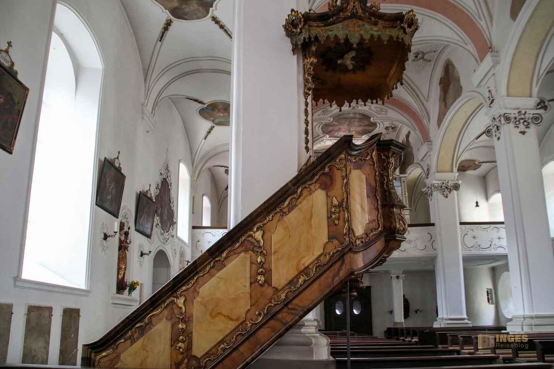 Kanzel Marienkirche in Ellwangen