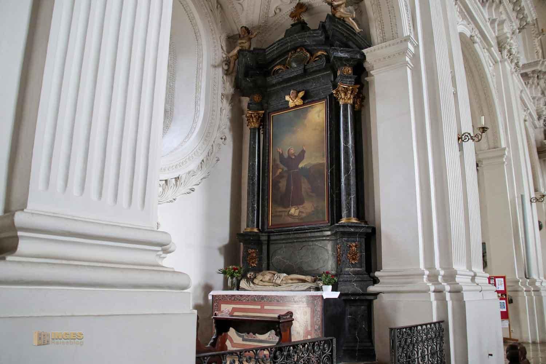 Franziskusaltar in der Wallfahrtskirche Schönenberg bei Ellwangen