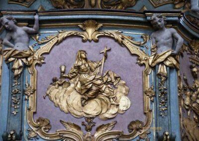 Kanzel in der Basilika St. Vitus in Ellwangen