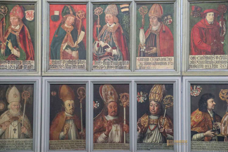 Galerie der Ellwanger Fürstpröpste in der Basilika St. Vitus in Ellwangen