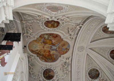 Deckenfresken in der Wallfahrtskirche Schönenberg bei Ellwangen