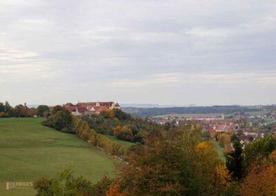 Schloss ob Ellwangen und Ellwangen