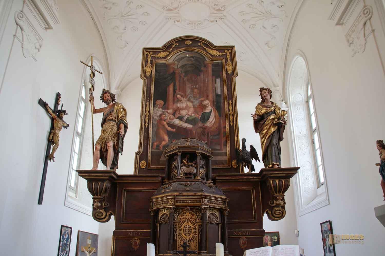 Hauptaltar Schlosskapelle St. Wendelin im Schloss ob Ellwangen