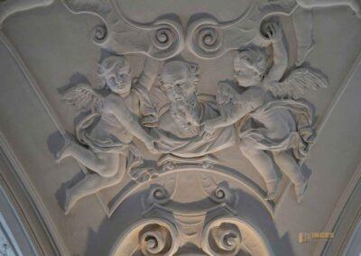 Stuckdecke Schlosskapelle St. Wendelin im Schloss ob Ellwangen