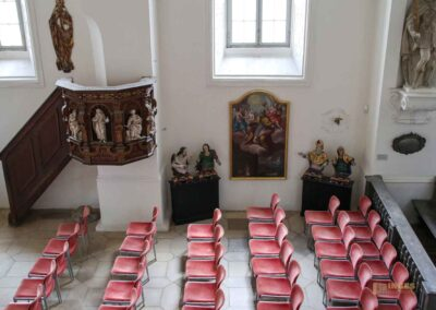 Blick von der Fürstenloge Schlosskapelle St. Wendelin im Schloss ob Ellwangen