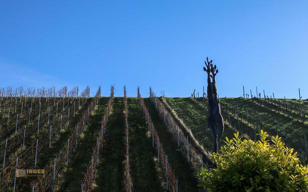 Der Skulpturenpfad in den Weinbergen in Strümpfelbach
