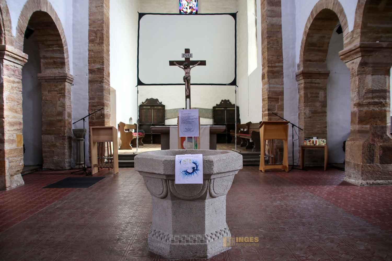 Taufstein Stiftskirche Bad Boll 1943