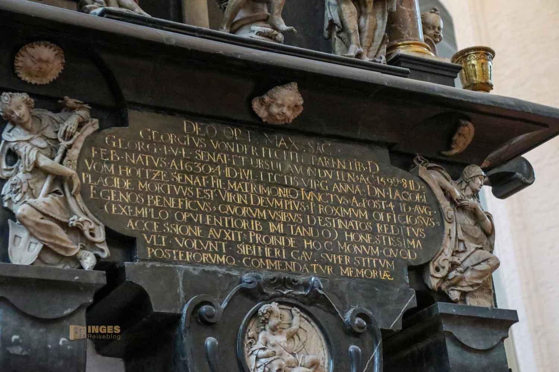 Epitaph Georg v.d.Fechte St. Katharinen Kirche Hamburg 7494